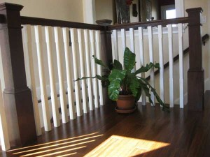 wooden-staircase-plant